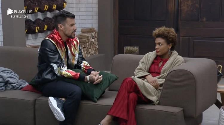 Lidi Lisboa desabafa com Lipe sobre tirar Mariano da prova.   JOÃO BIOTT
