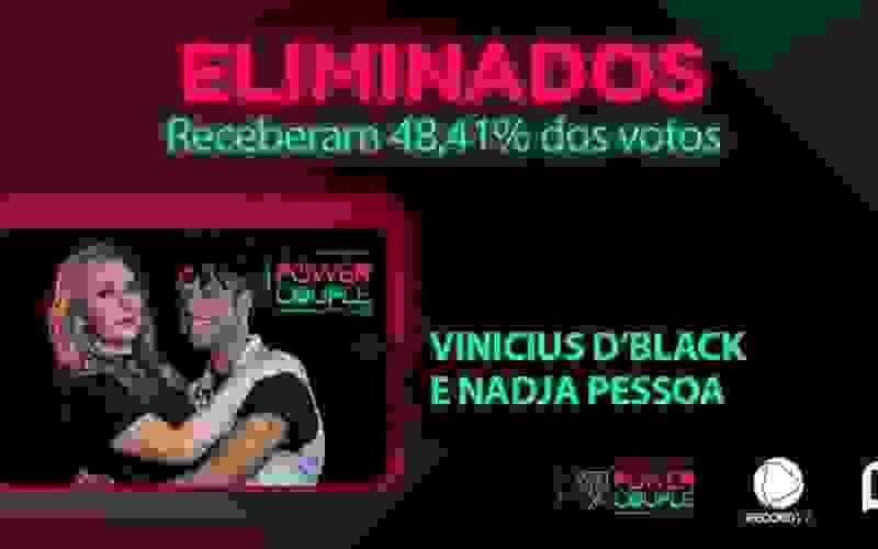 Vinicius D'Black e Nadja são eliminados do Power Couple Brasil