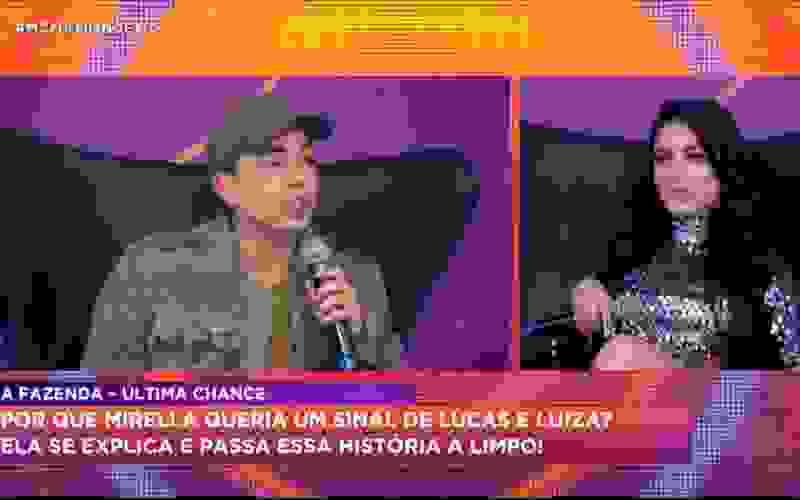 Mirella confirma que pediu para Lucas enviar um carro de som à sede de A Fazenda 12