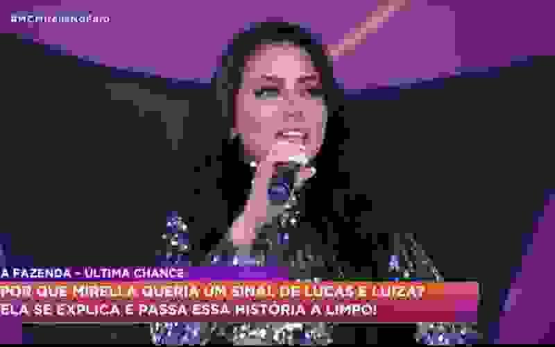Mirella explica a possível combinação de sinais com Lucas e Luiza